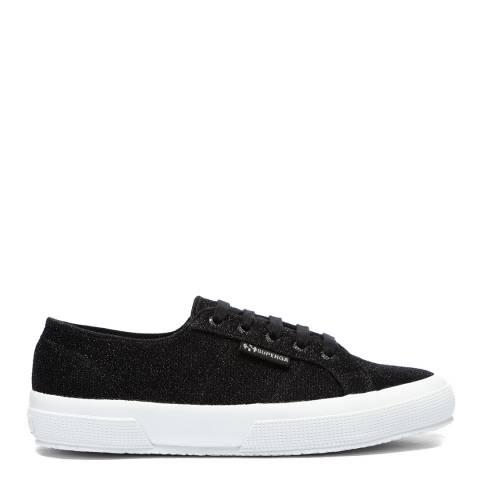 Superga Black 2750 Jersey Lurex Sneakers