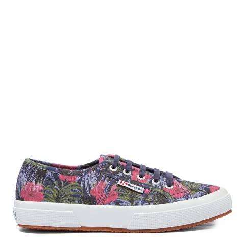 Superga Navy 2750 Floral Print Sneakers