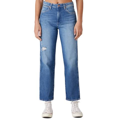 Wrangler Blue Wash The Retro Cotton Jeans