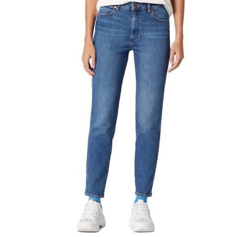 Wrangler Blue Retro Skinny Cotton Jeans