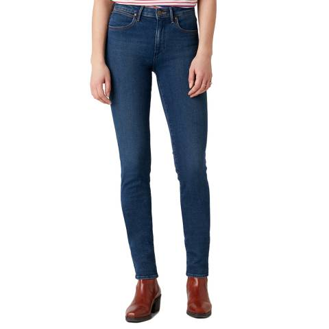 Wrangler Dark Indigo Slim Fit Cotton Jeans