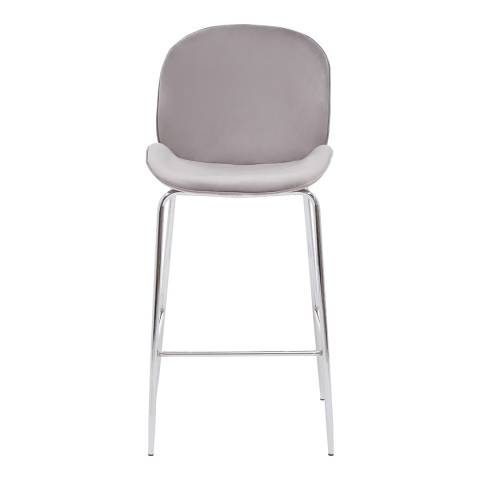 Fifty Five South Mink Velvet, Chrome Tamzin Bar Chair