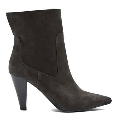 Mint Velvet Grey Ezra Suede Ankle Boots