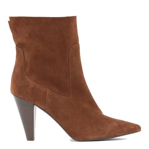 Mint Velvet Tan Ezra Suede Ankle Boots