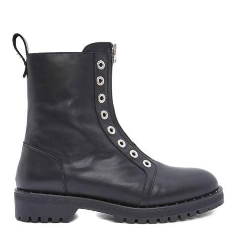 Mint Velvet Black Avery Biker Ankle Boots