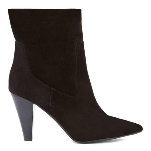Mint Velvet Black Ezra Suede Heeled Boots