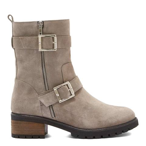 Mint Velvet Grey Elena Suede Biker Boots