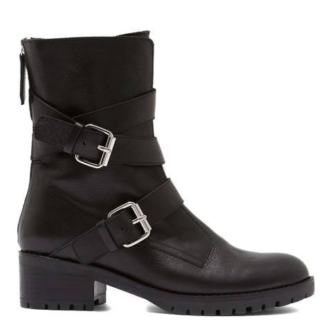Mint Velvet Black Tammy Leather Boots