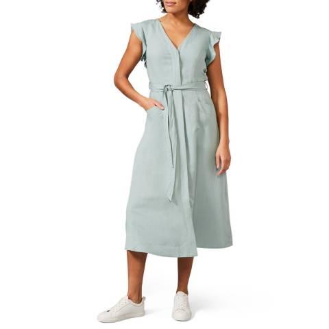 Phase Eight Blue Tallie Linen Dress