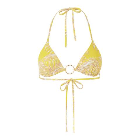 Melissa Odabash Tropical Yellow Miami Top