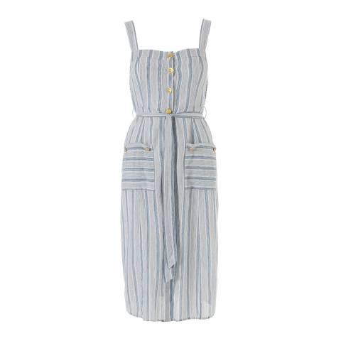 Melissa Odabash Navy Stripe Celine Midi Dress