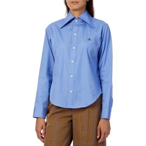 Vivienne Westwood Blue Stripe Pianist Cotton Shirt