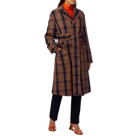 Vivienne Westwood Navy Belted Wool Ophelia Coat