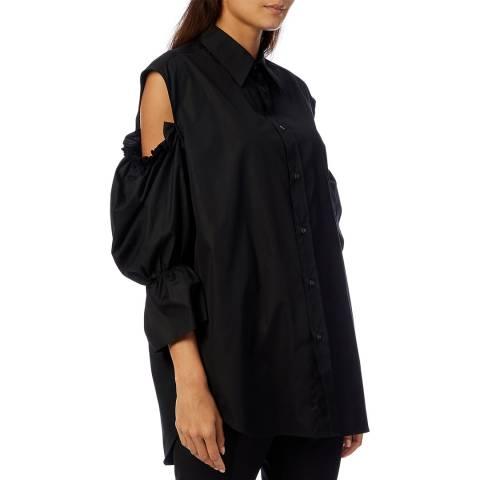 Vivienne Westwood Black Cut-Out Cotton Shirt
