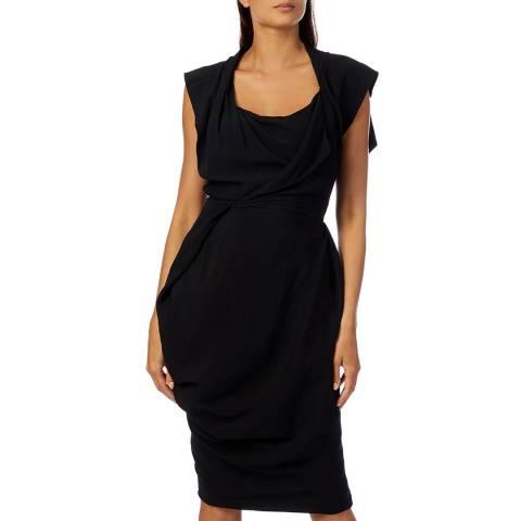 Vivienne Westwood Black Grand Fond Shift Midi Dress