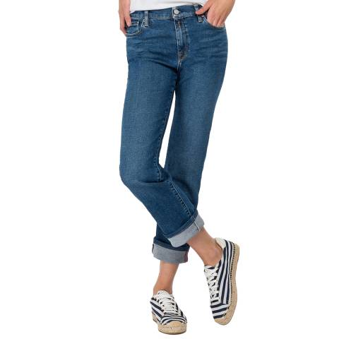 Replay Mid Blue Rose Julye Straight Stretch Jeans