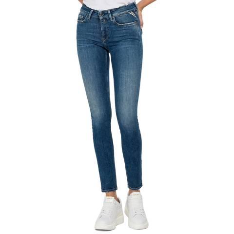 Replay Mid Blue Luz Skinny Stretch Jeans