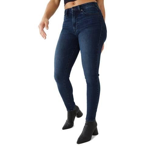 True Religion Dark Denim Halle Highrise Skinny Stretch Jeans