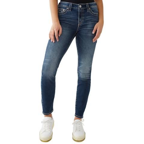 True Religion Blue Halle Skinny Stretch Jeans