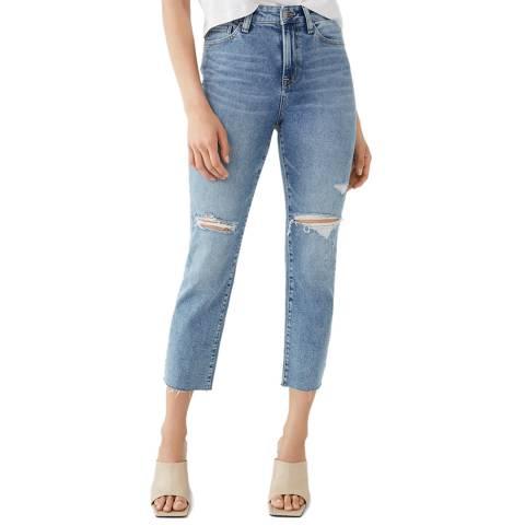 True Religion Blue Starr Bite Out Hem Cropped Jeans
