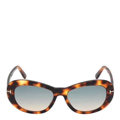 Tom Ford Women's Brown/Blue Tom Ford Sunglasses 54mm
