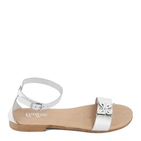 Battini White Leather Butterfly Sandal