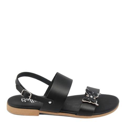 Battini Black Double Strap Butterfly Sandal