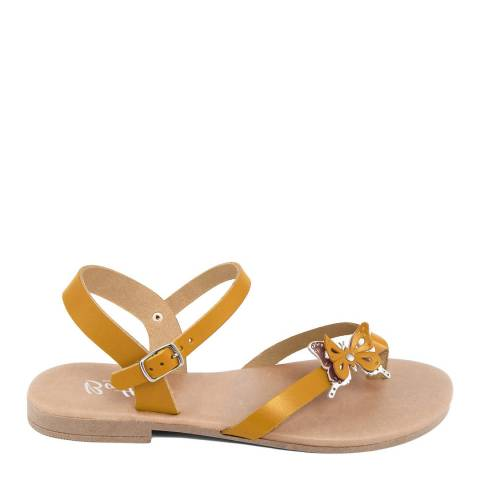 Battini Mustard Toe Thong Butterfly Sandal