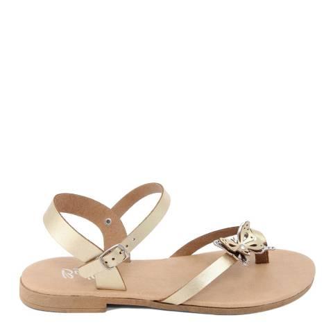 Battini Gold Toe Thong Butterfly Sandal