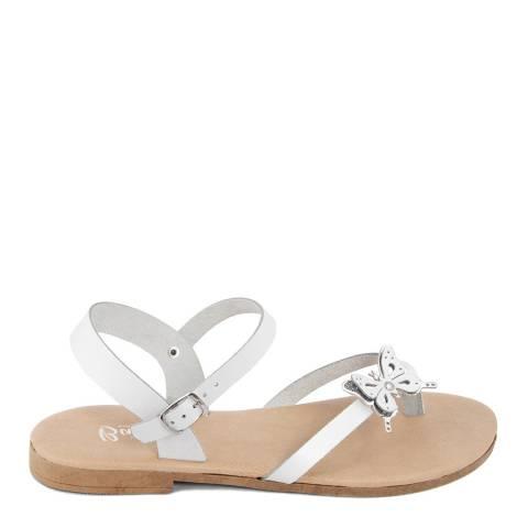 Battini White Toe Thong Butterfly Sandal