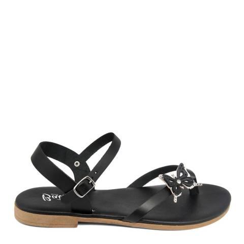 Battini Black Toe Thong Butterfly Sandal