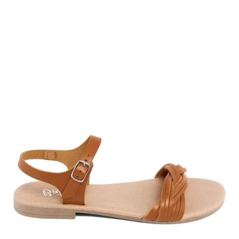 Battini Tan Leather Single Strap Sandal