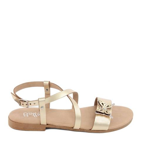 Battini Gold Crossover Butterfly Sandal
