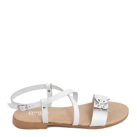 Battini White Crossover Butterfly Sandal