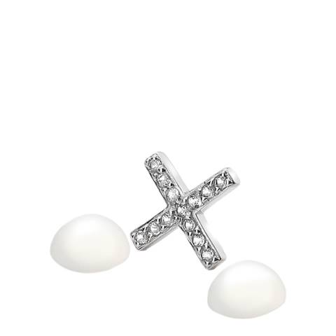 Anais Paris by Hot Diamonds Silver Kiss Charm with Moonstone Cabochons