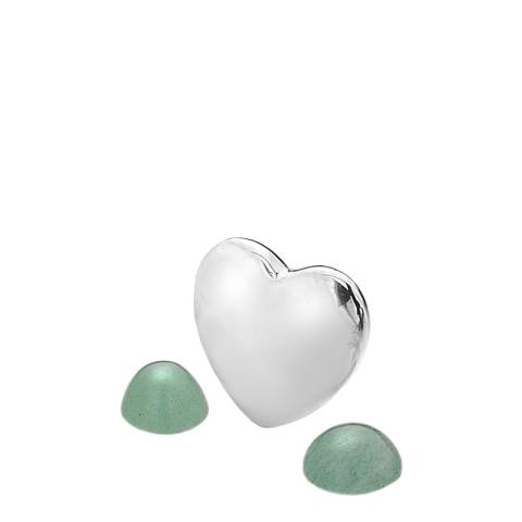 Anais Paris by Hot Diamonds Silver March Charm with Green Aventurine Cabochons
