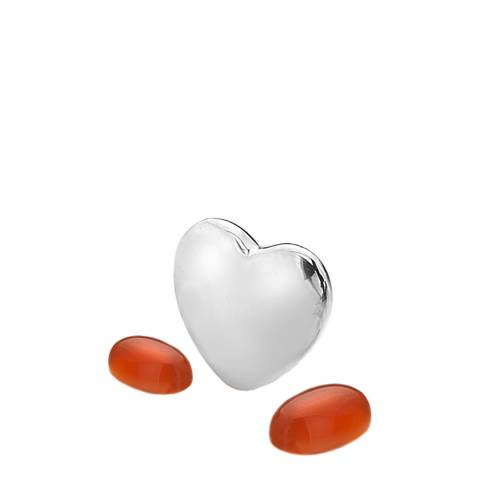 Anais Paris by Hot Diamonds Silver July Charm with Red Carnelian Cabochons