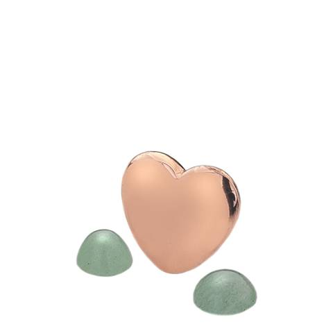 Anais Paris by Hot Diamonds Rose Gold March Charm with Green Aventurine Cabochons