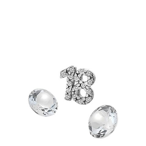 Anais Paris by Hot Diamonds Silver 18 Charm with White Topaz Cabochons