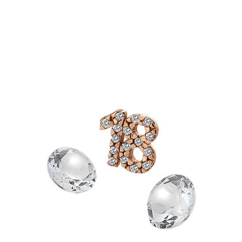 Anais Paris by Hot Diamonds Rose Gold 18 Charm with White Topaz Cabochons