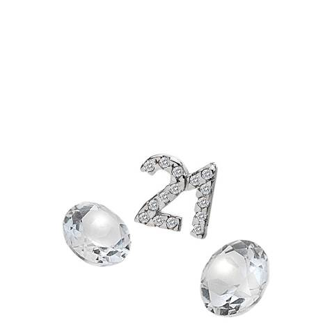 Anais Paris by Hot Diamonds Silver 21 Charm with White Topaz Cabochons