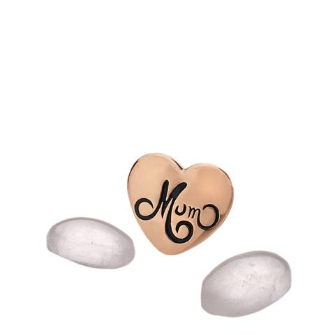 Anais Paris by Hot Diamonds Rose Gold Mum Charm with Rose Quartz Cabachons