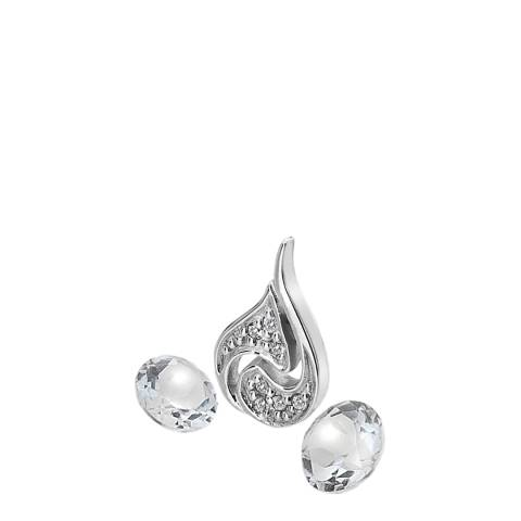 Anais Paris by Hot Diamonds Silver Air Charm and White Topaz stones