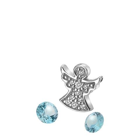 Anais Paris by Hot Diamonds Silver Angel Charm and Blue Topaz stones