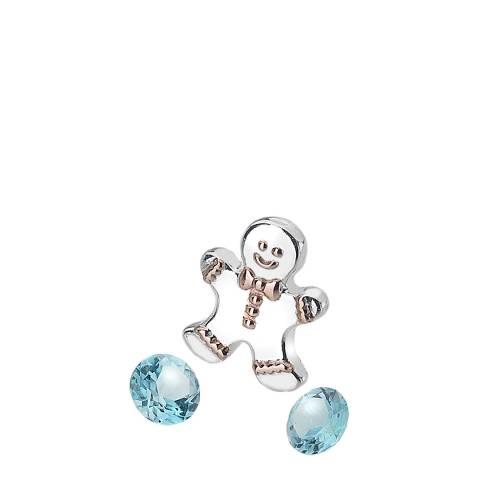 Anais Paris by Hot Diamonds Silver Gingerbread Man Charm and Blue Topaz stones