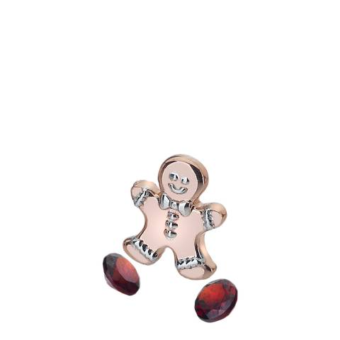 Anais Paris by Hot Diamonds Rose Gold Gingerbread Man Charm and Blue Topaz stones