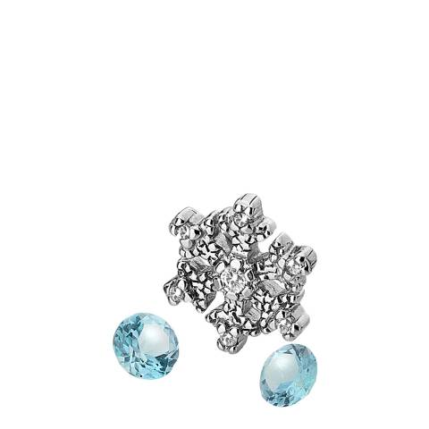 Anais Paris by Hot Diamonds Silver Snowflake Charm and Blue Topaz stones