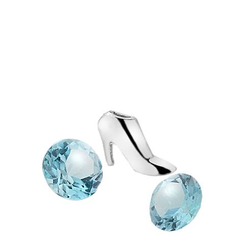 Anais Paris by Hot Diamonds Silver Blue Topaz Stones High Heel Charm