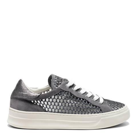 Crime London Grey Mesh Low Top Sneakers