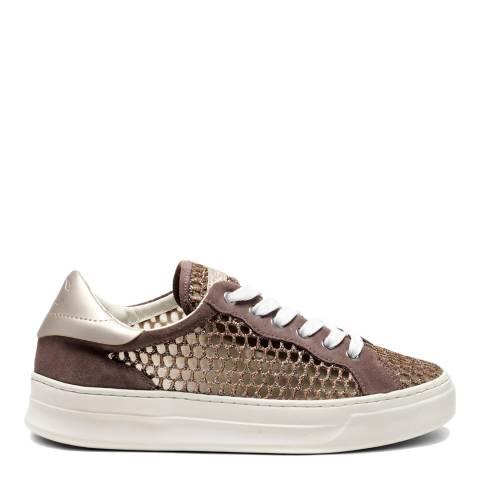 Crime London Bronze Mesh Low Top Sneakers